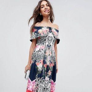 ASOS Bardot Ergonomic Midi Prom Dress